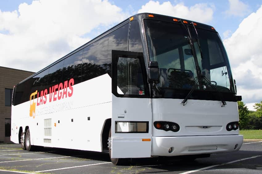 A Las Vegas Charter Bus Company bus