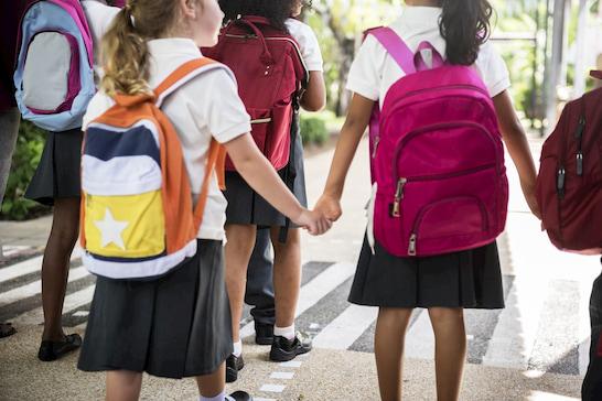 students on a Las Vegas school field trip
