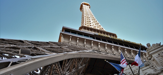 street view of the Vegas Eiffel Tower Deck