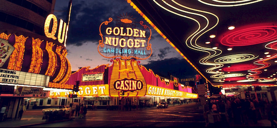 exterior view of the Golden Nugget Casino on Freemont Street