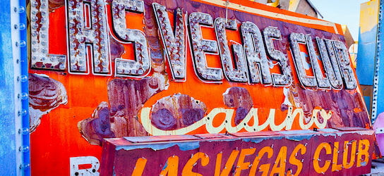 old neon sign on display at The Neon Museum