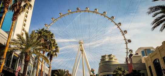 street view of the High Roller ferris wheel at the LINQ